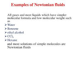 non newtonian fluid examples. examples of newtonian fluids non fluid x
