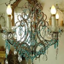 paris flea market chandelier antique beaded chandelier aqua flea market treasure paris flea market chandelier crystorama