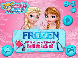 create a makeup for elsa and anna cutezee