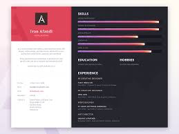 Resume Presentation Dribbble ResumePresentation24png by Ivan Afandi 1