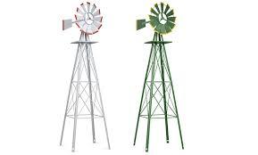off on costway 8ft tall windmill orn