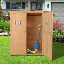 outsunny garden shed wooden tool