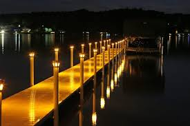 outdoor lighting dock lights marine dock and deck solar marker lights paradise solar lights pontoon