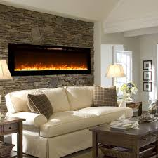 astoria 60 inch built in ventless heater recessed wall mounted electric fireplace crystal