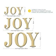 joy wall letters distressed gold the