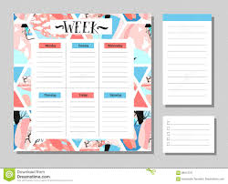 Planner Paper Template Cute Calendar Daily And Weekly Planner Template Note Paper And