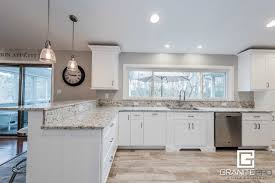 white kitchen counter. Interesting Kitchen White Kitchen Cabinets With Granite Countertops Marble  Corian And On Counter