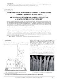 Downdraft Paint Booth Design Pdf Pdf Preliminary Modeling Of Overspray Particles