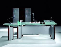 large l shaped glass desk