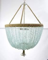 sea glass chandelier. Francois - Sea Glass Open Chandelier O
