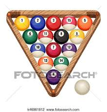 pool table balls clipart. Exellent Pool Billiard Balls In A Wooden Rack Vector Illustration Of Commonly Used  Starting Position Snooker And Pool Gaming Concept With Pool Table Balls Clipart D