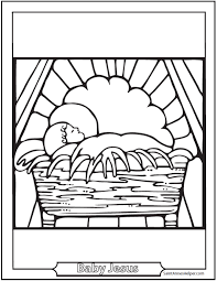 You might also be interested in coloring pages from jesus nativity, religious christmas categories. Baby Jesus Coloring Pages Jesus In The Crib