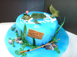 21 Brilliant Image Of Fishing Birthday Cake Davemelillocom