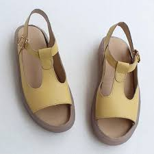 foreign trade handmade leather shoes small fresh summer leather sandals open toe fish mouth inside and outside all fla summer sandals men sandals from