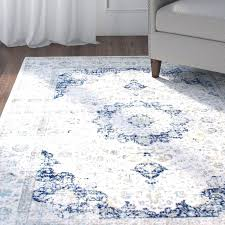 blue grey area rug crosier light by bungalow rose lily manor