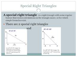 Geometry Sin Cos Tan Chart What Are Special Right Triangles How Do I Find Values For