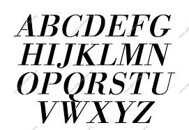 Stencil Letters 1700s Decorative Italic Uppercase Lowercase Letter Stencils A Z 1