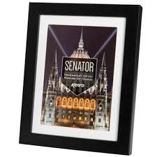 kenro senator black 30x40cm frame w mat 12x10 image 1