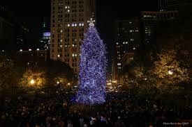 christmas tree lighting chicago. 102nd Annual Chicago Christmas Tree Lighting Ceremony Photos