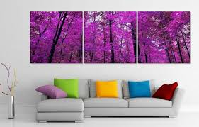 purple forest 3 panel canvas art set on 3 panel wall art set with purple forest 3 panel canvas art set canvases workplace and room