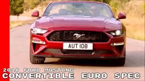 2018 ford mustang convertible. wonderful convertible 2018 ford mustang convertible euro spec and ford mustang convertible