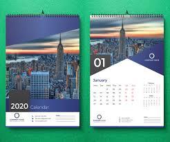 Wall Calendar Design Ideas 2019 25 Best New Year 2020 Wall Desk Calendar Designs For