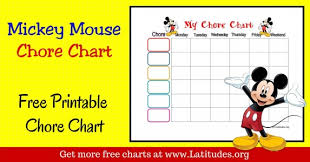 Mickey Mouse Job Chart Free Printable Homework Charts For Teachers Students Acn