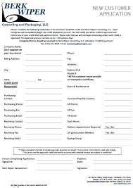 Wholesale Credit Application Customer Account Application Form Template Download Set Up