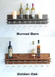 wine glass shelf rustic wood wall wine rack shelf hanging wine glass holder stemware rack wine wine glass shelf