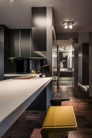 Home Designs: Small Sleek Kitchen - Small Masculine Apartment