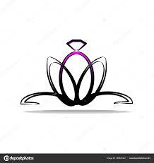婚約や結婚式のためのロゴ 花の形をリングします 装飾とおしゃれと
