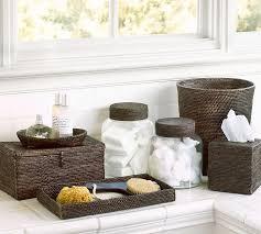 Decorative Bathroom Tray Tava Bath Accessories Espresso Pottery Barn 29