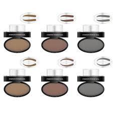 eyebrow powder. ggg eyebrow powder stamper seal pencil thrush artifact stencil long-lasting waterproof makeup kit for beginners - dark coffee arched: