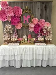 Paper Flower Baby Shower Decorations