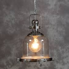 chrome and glass industrial ceiling lantern