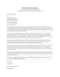 Babysitter Cover Letter Example Housekeeping Cover Letter Nanny