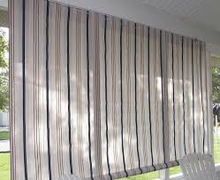 shades white striped rectangle classic fabric patio pull down shade stained design appealing patio
