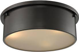 elk 11811 3 simpson modern oil rubbed bronze flush ceiling light fixture loading zoom
