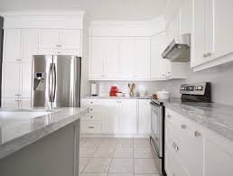 white kitchen cabinets grey marble countertops fresh white shaker kitchen cabinets with marble countertops subway tile