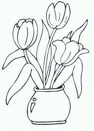 Tulp Kleurplaat Lovely Bloem Kleurplaat Simpel Archidev De Beste