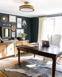 home office wall color. Pair A Bold Wall Color Like Nightfall 1596 With Crisp White Trim/ceiling · Office DesksHome Home I