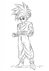 Dragon ball z coloring pages for kids learn how to color with super sayan kid goku. Gohan In Dragon Ball Z Coloring Page Free Printable Coloring Pages For Kids