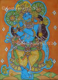 lord krishna mural 55th kerala day