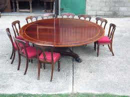 mahogany dining room table and 8 chairs large round dining table seats antique round dining tables