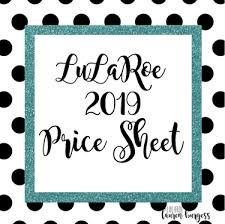 Lularoe Price Chart Lularoe 2019 Pricing New Releases Included Direct Sales