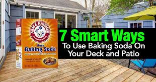 use baking soda on your deck and patio