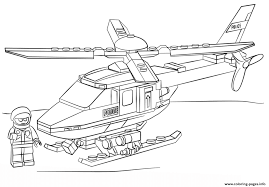 Small Picture Lego Police Helicopter City Coloring Pages Printable