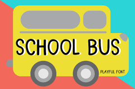 Vector copy of aiga bus.gif. School Bus Font By Pearlydaisy Creative Fabrica In 2020 School Bus Best Free Fonts Premium Fonts
