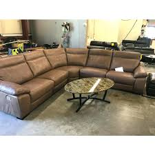 5 leather sectional sofa with 3 power recliners headrest reclining