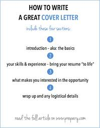 Elements Of A Good Cover Letter How to write a cover letter Six Degree Consulting 6